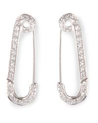 Genevieve Jones | Metallic Safety Pin Earrings | Lyst