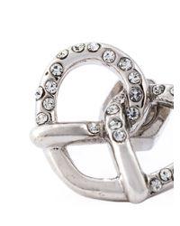 Marc By Marc Jacobs - Metallic Pavé Pretzel Stud Earrings - Lyst