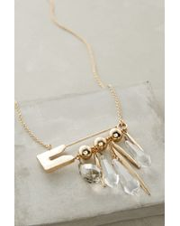 Anthropologie - Metallic Pinned Pendant Necklace - Lyst