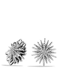 David Yurman | Metallic Starburst Medium Earrings With Diamonds | Lyst