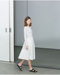 Zara | White Combination Dress | Lyst