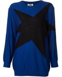 Sonia by Sonia Rykiel - Blue Star Patch Sweater - Lyst