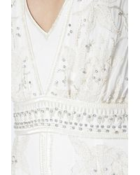 French Connection | White Broadway Lights Embellished Maxi Dress | Lyst