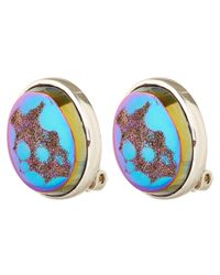 Stephen Dweck | Metallic Silver Druzy Rainbow Oval Earrings | Lyst