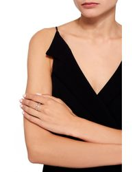 Lauren Klassen - Metallic Paperclip Ring With Diamond - Lyst