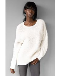 Rag & Bone | White 'corrine' Slouchy Crewneck Sweater | Lyst
