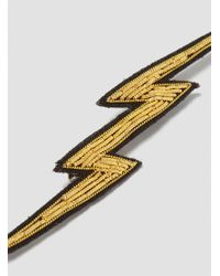 Macon & Lesquoy - Metallic Eclair Gold Lightning Bolt Brooch Gold - Lyst