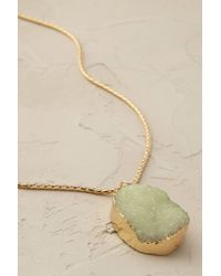 Anthropologie | Green Glacier Pendant Necklace | Lyst