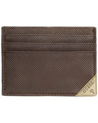 Guess - Brown Maurice Card Case for Men - Lyst