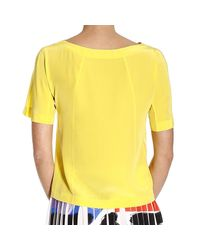 Alberta Ferretti | Yellow Shirt Woman | Lyst