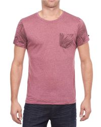 William Rast | Red Leaf Print-trim T-shirt for Men | Lyst