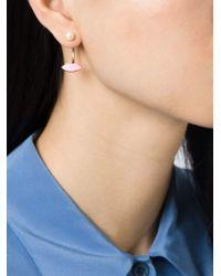 Delfina Delettrez | Pink 'lips Piercing' Earring | Lyst