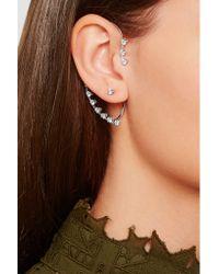 Delfina Delettrez | Metallic 18-karat White Gold Diamond Ear Cuff | Lyst