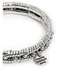 Philippe Audibert | Metallic 'ethan' Rope Chain Elastic Bracelet | Lyst