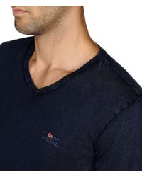 Napapijri   Blue Long Sleeve T-shirt for Men   Lyst