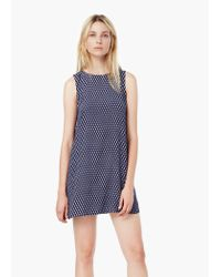 Mango | Blue Floral Print Dress | Lyst