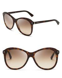 Prada - Gray Oversized Sunglasses - Lyst