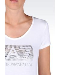 EA7 - White Short Sleeved T-shirt - Lyst