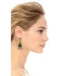 Marni - Green Strass Clip On Earrings - Jade - Lyst