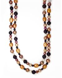 Effy | 47 Inch Dark Multicolor Pearl Necklace | Lyst