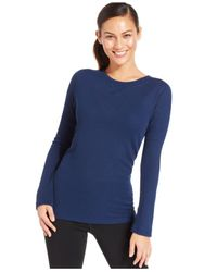 Under Armour - Blue Textured Waffle-Knit Top - Lyst