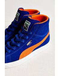 PUMA - Blue Suede Classic Mid Jr Sneaker - Lyst