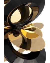 Marni - Black Goldtone Resin Earrings - Lyst