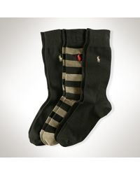 Polo Ralph Lauren | Black Rugby Sock Multi-pack for Men | Lyst
