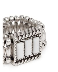 Philippe Audibert | Metallic 'megan' Rhinestone Elastic Ring | Lyst