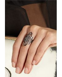 Diane Kordas - Arabesque 18karat Blackened Gold Diamond Ring - Lyst