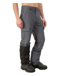 Quiksilver - Gray Mission Shell Snow Pants for Men - Lyst