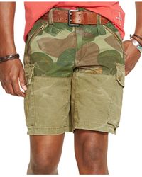 Polo Ralph Lauren - Green Straight-Fit Pieced Shorts for Men - Lyst