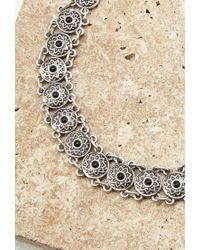 Forever 21 | Metallic Faux Stone Medallion Choker | Lyst