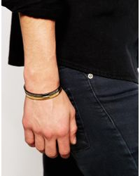 ASOS | Multicolor Bangle With Split Colour Finish for Men | Lyst