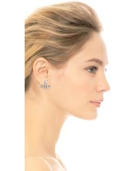DANNIJO - Metallic Tucker Earrings - Silver/crystal - Lyst