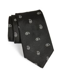 Ike Behar - Black Paisley Woven Silk Tie for Men - Lyst