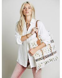 Free People - White Granada Tote - Lyst