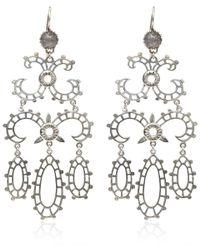 Laurent Gandini - Metallic Silver Labradorite Chandelier Earrings - Lyst