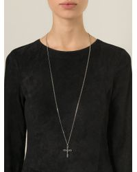 Givenchy | Metallic Crucifix Pendant Necklace | Lyst