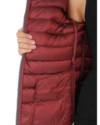 Colmar | Red Off Center Shiny Nylon Down Jacket | Lyst