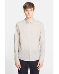 ATM - Natural Trim Fit Cotton Lawn Shirt for Men - Lyst