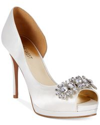 Nine West | White Finest Platform Evening Pumps | Lyst