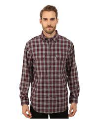 Carhartt | Red Fort Plaid Long Sleeve Shirt for Men | Lyst