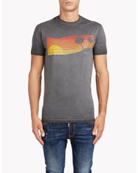 DSquared² | Gray Long Cool Fit T-shirt for Men | Lyst