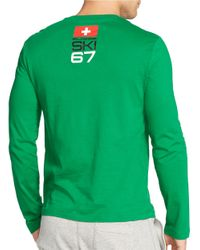 Polo Ralph Lauren | Green Ski Crewneck Shirt for Men | Lyst