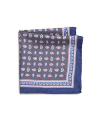 Saks Fifth Avenue | Blue Paisley Pocket Square for Men | Lyst