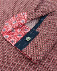 Ted Baker   Red Dotbiz Polka Dot Print Button Down Shirt - Regular Fit for Men   Lyst