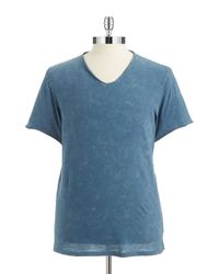 Guess | Blue Gunnarson Acid V-Neck Tee for Men | Lyst