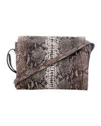 Zagliani | Gray Python Skin Bag | Lyst