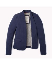 Tommy Hilfiger - Blue Cotton Blazer - Lyst